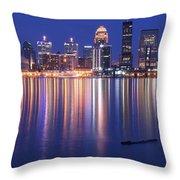 Full Moon Over Louisville Throw Pillow