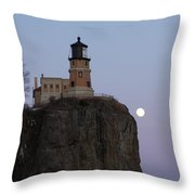 Full Moon Over Split Rock Throw Pillow