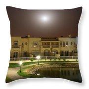 Full Moon Over Springs 10 Throw Pillow