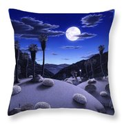 Full Moon Rising Throw Pillow