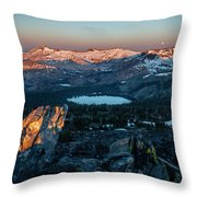 Full Moon Set Over Desolation Wilderness Throw Pillow