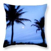 Full Moon Sunrise Throw Pillow
