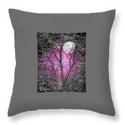 Full Moon Watching Throw Pillow