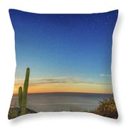 Full Moon With Shooting Star Throw Pillow