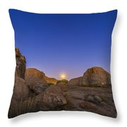 Full Moonrise At City Of Rocks State Throw Pillow