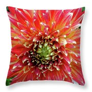 Full Of Fire Throw Pillow