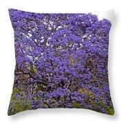 Full On Purple Throw Pillow