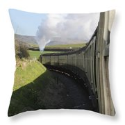 Full Steam Ahead Throw Pillow