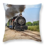 Full Steam To Nowhere Throw Pillow