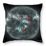Full Sun With Lots Of Sunspots Throw Pillow