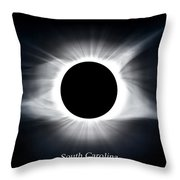 Full Totality Throw Pillow
