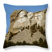 Full View Rushmore Throw Pillow