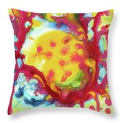 Full Yellow Moon Resting In A Tree Throw Pillow