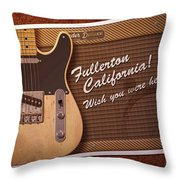 Fullerton Postcard Throw Pillow