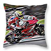 Fullspeed On Two Wheels 6 Throw Pillow