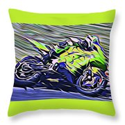 Fullspeed On Two Wheels 8 Throw Pillow