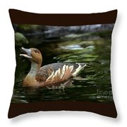 Fulvous Whistling Duck 2 Throw Pillow
