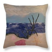 Fun Beach Day Throw Pillow