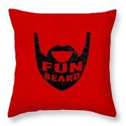 Fun Beard Throw Pillow