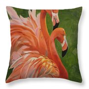Fun Flamingos Throw Pillow