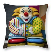 Fun House Clown Point Pleasant Nj Boardwalk Throw Pillow