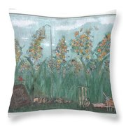 Fun In The Weeds Throw Pillow