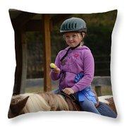 Fun On A Pony Throw Pillow