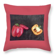 Fun With Vegetables Throw Pillow