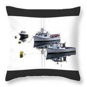 Fundy Morning - Carrie And Kayla - Logan Anne Throw Pillow