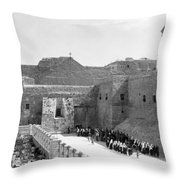 Funeral Procession In Bethlehem During 1934 Throw Pillow