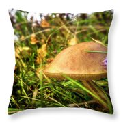Funghi, Cashel Forest Throw Pillow