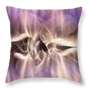 Funghi In Rays Throw Pillow