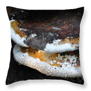 Fungi In Dew Throw Pillow