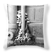 Funginopolis Throw Pillow