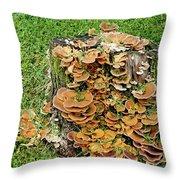 Fungus Bouquet Throw Pillow