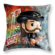 Funko Lemmy Kilminster Out To Lunch Throw Pillow