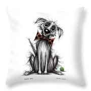 Funky Dog Throw Pillow
