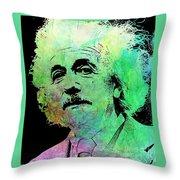 Funky Einstein  Throw Pillow