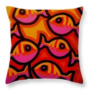 Funky Fish Iv Throw Pillow