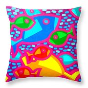 Funky Fish Throw Pillow