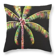 Funky Palm Tree Throw Pillow