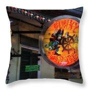 Funky Pirate Throw Pillow