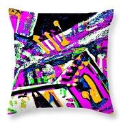Funky Pop-7 Throw Pillow