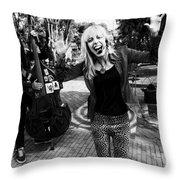 Funky Singer Throw Pillow