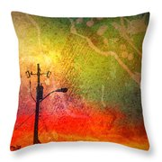 Funky Sunset Throw Pillow