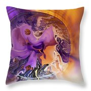 Funnel Of Time Throw Pillow