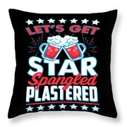 Funny Alcohol Fireworks Fourth July Gift 4th July Independence Day Throw Pillow