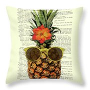 Funny And Cute Pineapple Art Throw Pillow