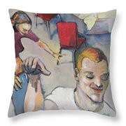 Funny Couple Throw Pillow