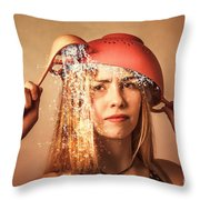 Funny Creative Cooking Pinup Girl Throw Pillow